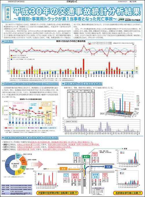 平成30年中の交通事故統計分析結果〔車籍別:掲出用ポスター〕