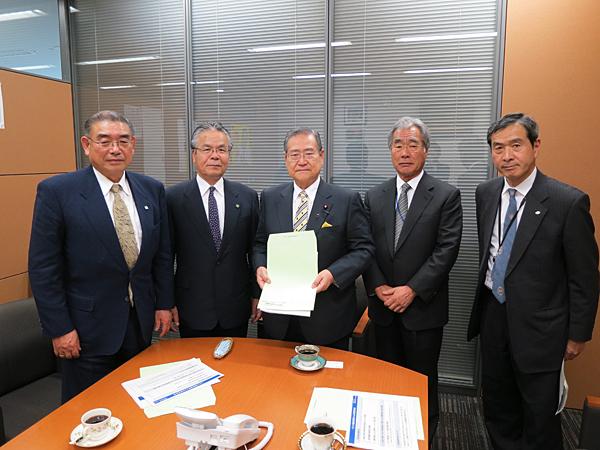 野田毅自民党税制調査会長に対する陳情